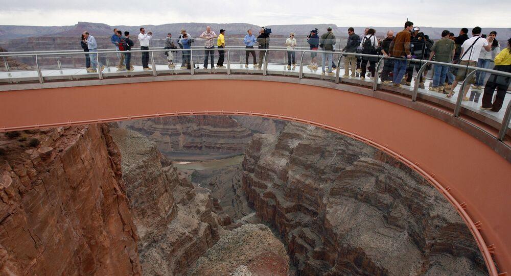 ABD'deki Büyük Kanyon ulusal parkı.