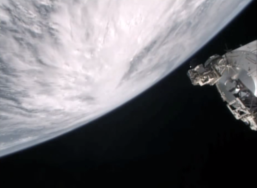 ISS'dan patricia kasırgası görünümü