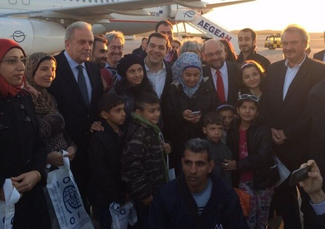 Yunanistan'daki ilk sığınmacı kafilesi Lüksemburg'a gitti