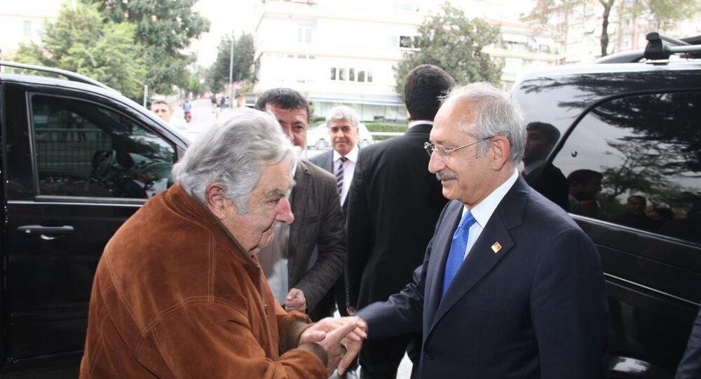 Eski Uruguay Devlet Başkanı Jose Mujica ve CHP lideri Kemal Kılıçdaroğlu