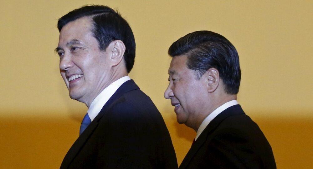 Çin Devlet Başkanı Şi Cinping - Tayvan Devlet Başkanı Ma Ying-jeou
