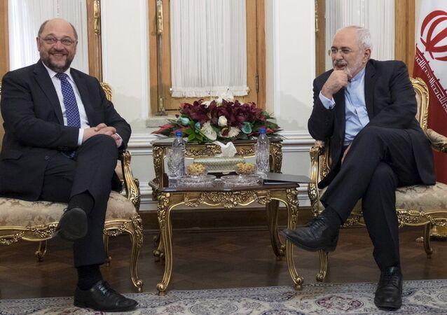 Avrupa Parlamentosu Başkanı Martin Schulz - İran Dışişleri Bakanı Muhammed Cevad Zarif