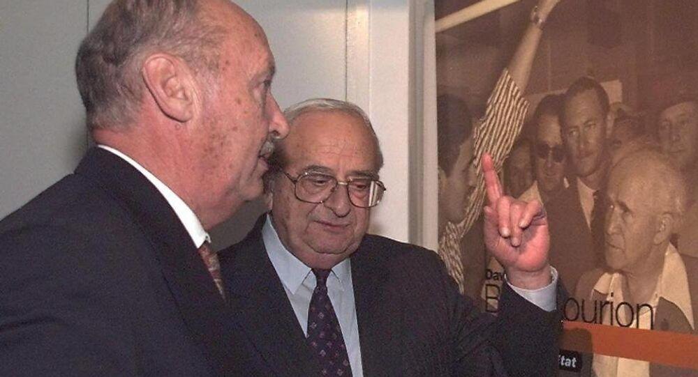 İsrail'in 5. Cumhurbaşkanı İzak Navon (sağda)