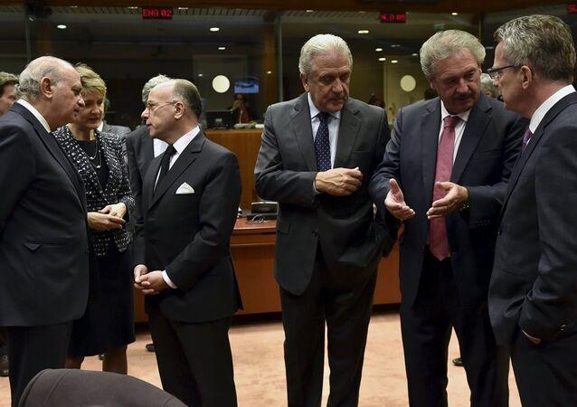 Avrupa Birliği içişleri ve adalet bakanları, sığınmacı krizini ele almak üzere Brüksel'de biraraya geldi.