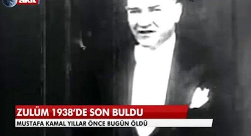 Akit TV'nin Mustafa Kemal Atatürk haberi.