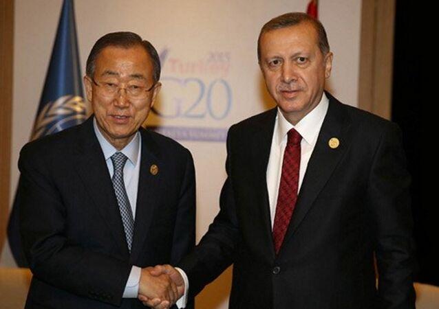Cumhurbaşkanı Recep Tayyip Erdoğan - Birleşmiş Milletler Genel Sekreteri Ban Ki-Mun (Arşiv)