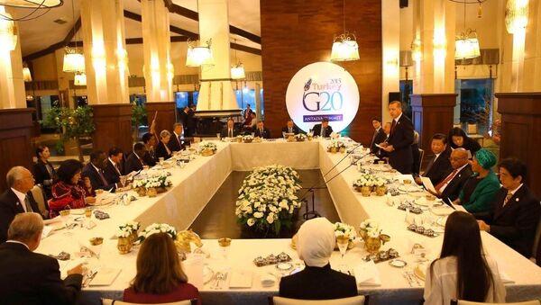 G20 Zirvesi - Liderler onuruna yemek - Sputnik Türkiye