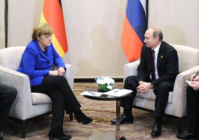 Almanya Başbakanı Angela Merkel- Rusya Devlet Başkanı Vladimir Putin