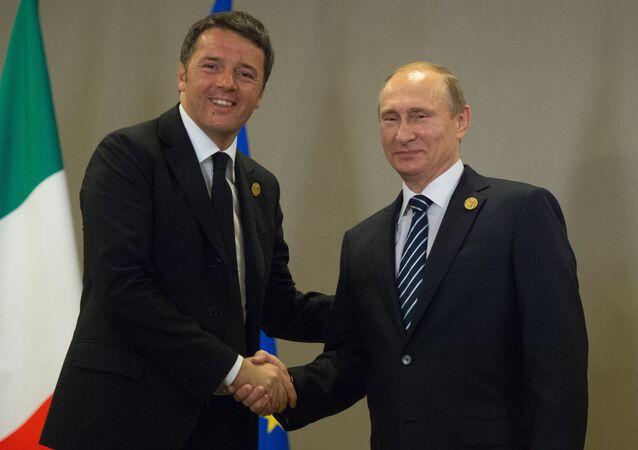 İtalya Başbakanı Matteo Renzi - Rusya Devlet Başkanı Vladimir Putin / G20 Zirvesi