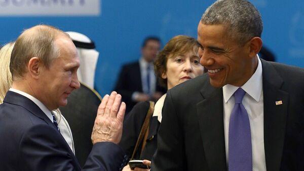 Barack Obama - Vladimir Putin - Sputnik Türkiye