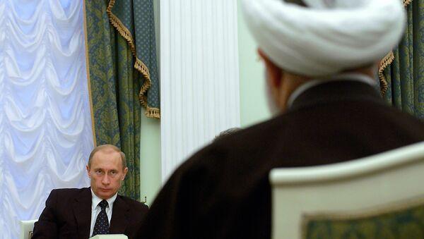 İran Cumhurbaşkanı Hasan Ruhani - Rusya Devlet Başkanı Vladimir Putin - Sputnik Türkiye