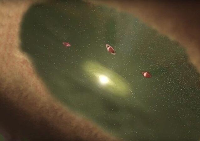 Tarihte ilk kez bir gezegenin oluşumu gözlemlendi.