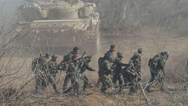 Suriye ordusunun Şam'ın Duma ilçesindeki operasyonu - Sputnik Türkiye