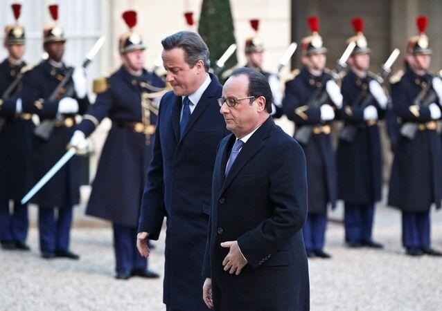 İngiltere Başbakanı David Cameron - Fransa Cumhurbaşkanı François Hollande