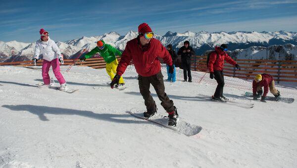 Soçi'de kayak sezonu - Sputnik Türkiye