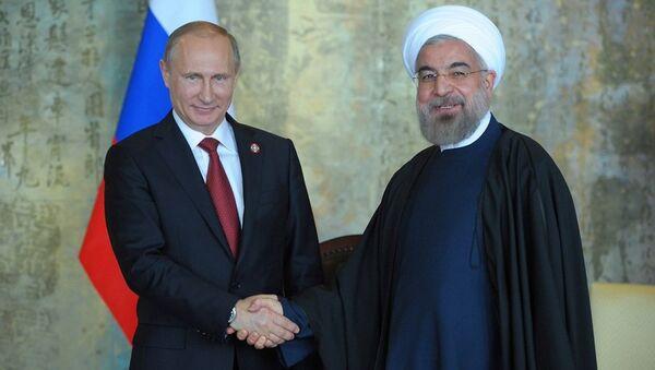 Vladimir Putin - Hasan Ruhani - Sputnik Türkiye