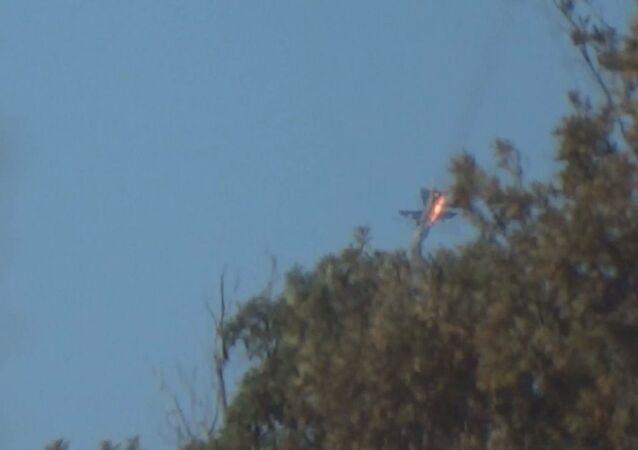 Düşürülen Rus uçağı