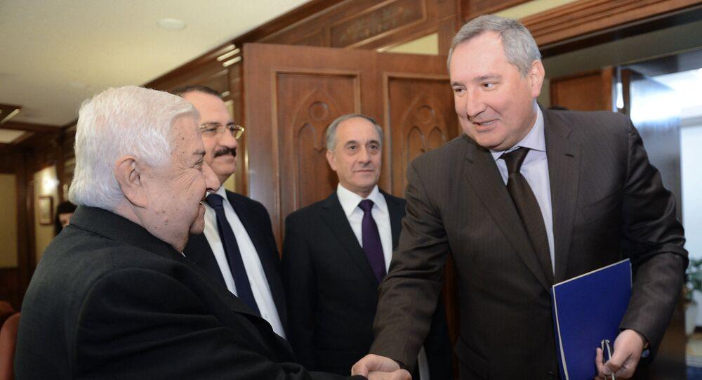 Rusya Başbakan Yardımcısı Dmitriy Rogozin - Suriye Dışişleri Bakanı Velid Muallim