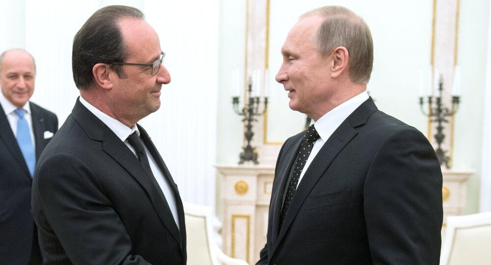 Rusya Devlet Başkanı Vladimir Putin - Fransa Cumhurbaşkanı François Hollande