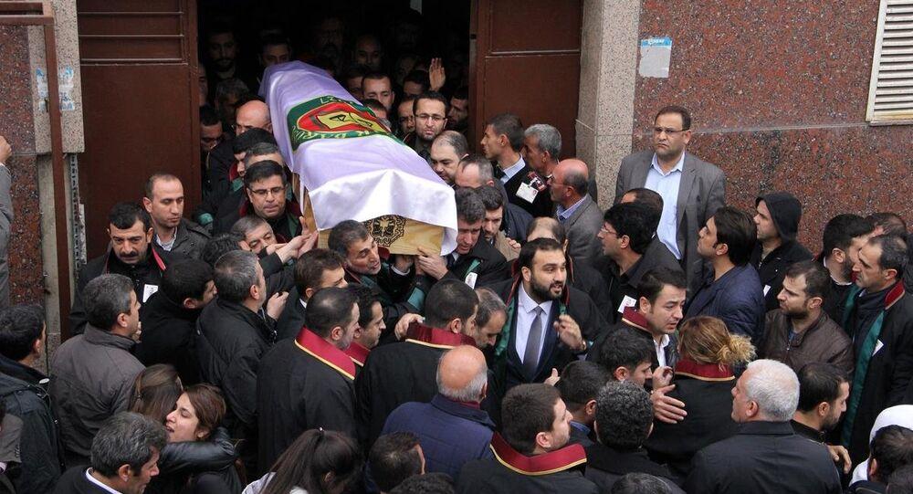 Tahir Elçi cenaza töreni