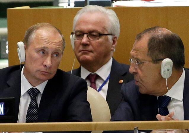 Rusya BM Daimi Temsilcisi Çurkin - Rusya Dışişleri Bakanı Lavrov - Rusya Devlet Başkanı Putin