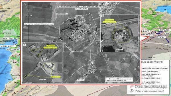 Suriye'nin Kara-Çoh bölgesinde benzin tankerleri yığınağı.