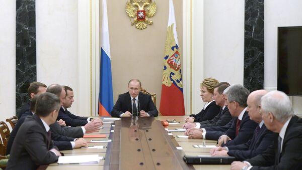 Rusya Devlet Başkanı Vladimir Putin, Güvenlik Konseyi'ni topladı. - Sputnik Türkiye