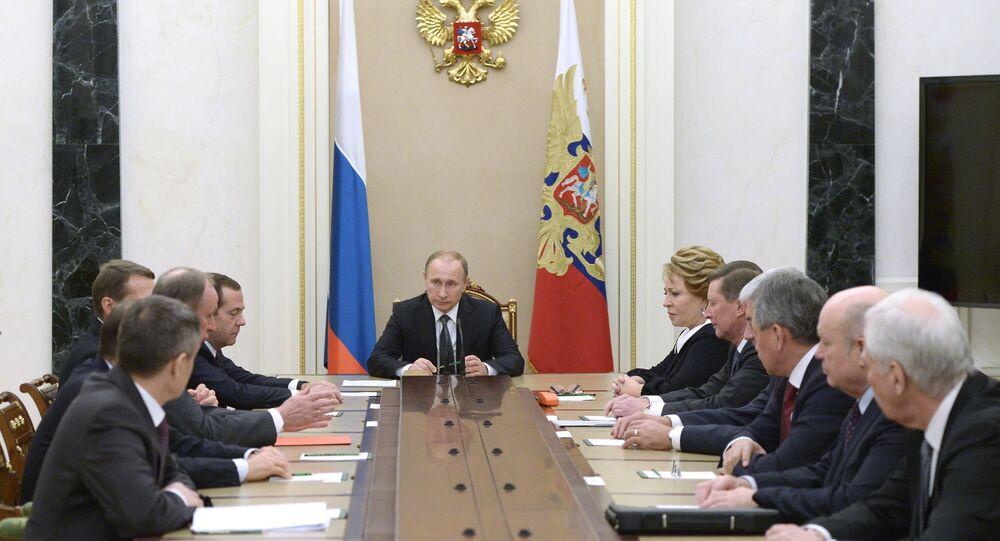 Rusya Devlet Başkanı Vladimir Putin, Güvenlik Konseyi'ni topladı.