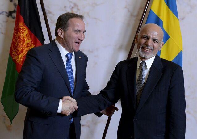 İsveç Başbakanı Stefan Löfven - Afganistan Cumhurbaşkanı Eşref Gani