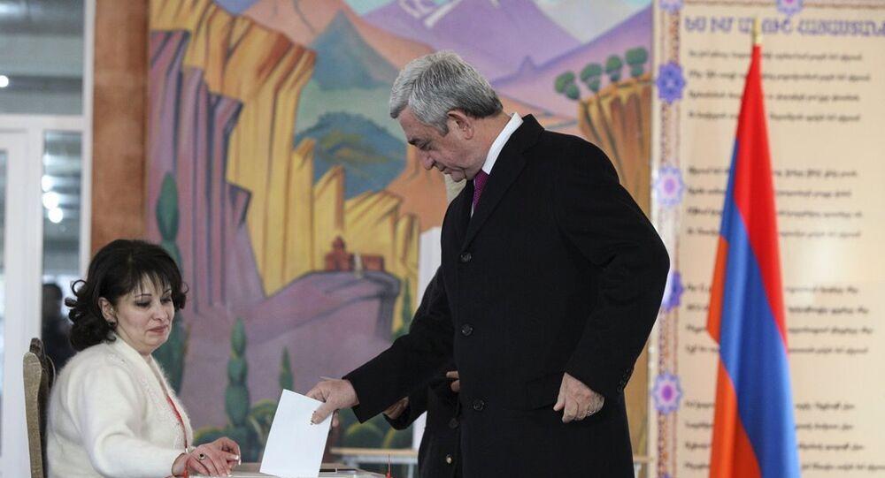 Ermenistan Cumhurbaşkanı Serj Sarkisyan