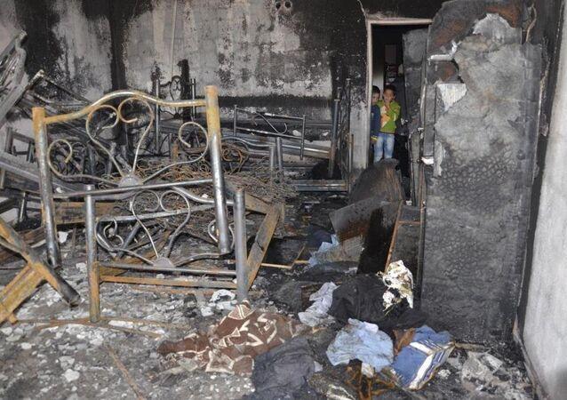 Diyarbakır'ın Kulp İlçe Müftülüğüne bağlı Karaağaç Mahallesi Kur'an Kursu binasınının üst katında yatakhane olarak kullanılan odada çıkan yangında, 6 öğrenci hayatını kaybetti.