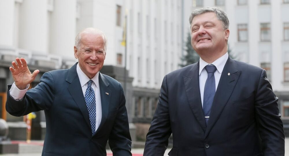 ABD Başkan Yardımcısı Joe Biden - Ukrayna Devlet Başkanı Pyotr Poroşenko