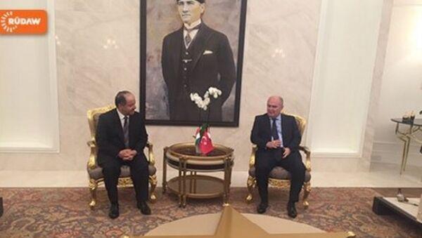Türkiye Dışişleri Bakanlığı Müsteşarı Feridun Sinirlioğlu- IKBY Başkanı Mesud Barzani - Sputnik Türkiye