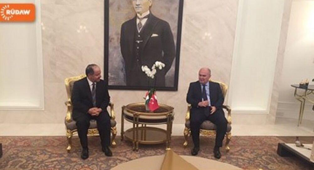 Türkiye Dışişleri Bakanlığı Müsteşarı Feridun Sinirlioğlu- IKBY Başkanı Mesud Barzani