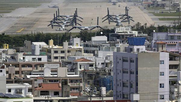 Japonya'nın Okinawa Adası'ndaki ABD askeri üssü - Sputnik Türkiye