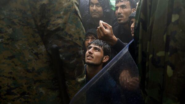 Makedonya - Yunanistan sığınmacı - Sputnik Türkiye