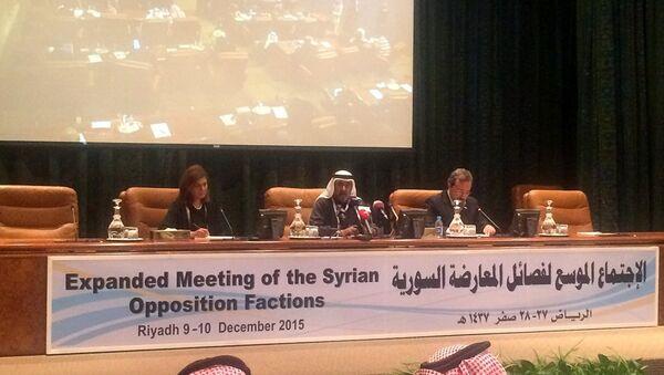 Suriyeli muhaliflerin Riyad'daki görüşmeleri - Sputnik Türkiye