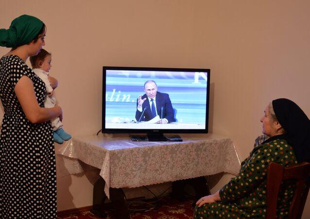 Rusya Devlet Başkanı Vladimir Putin geleneksel yılsonu basın toplantısını gerçekleştiriyor.