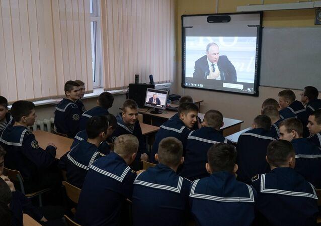 Rusya Devlet Başkanı Vladimir Putin geleneksel yılsonu basın toplantısını gerçekleştiriyor