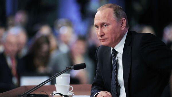 Putin'in yılsonu basın toplantısı - Sputnik Türkiye