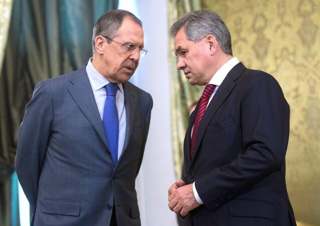 Rusya Dışişleri Bakanı Sergey Lavrov - Rusya Savunma Bakanı Sergey Şoygu