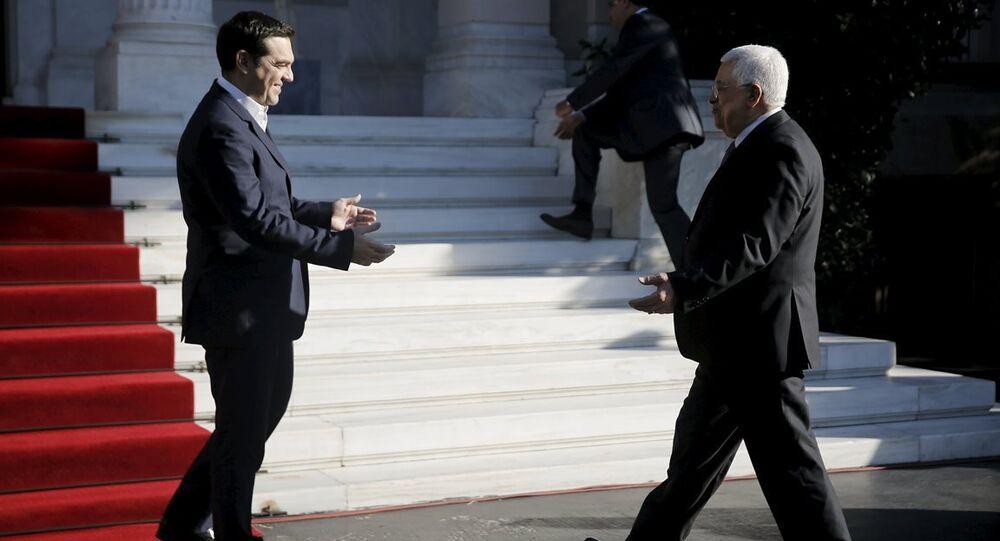 Yunanistan Başbakanı Aleksis Çipras- Filistin Devlet Başkanı Mahmud Abbas