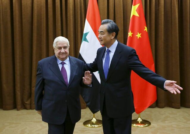 Suriye Dışişleri Bakanı Velid Muallim- Çin Dışişleri Bakanı Wang Yi