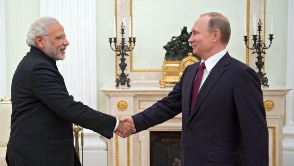 Putin ile Modi - Sputnik Türkiye
