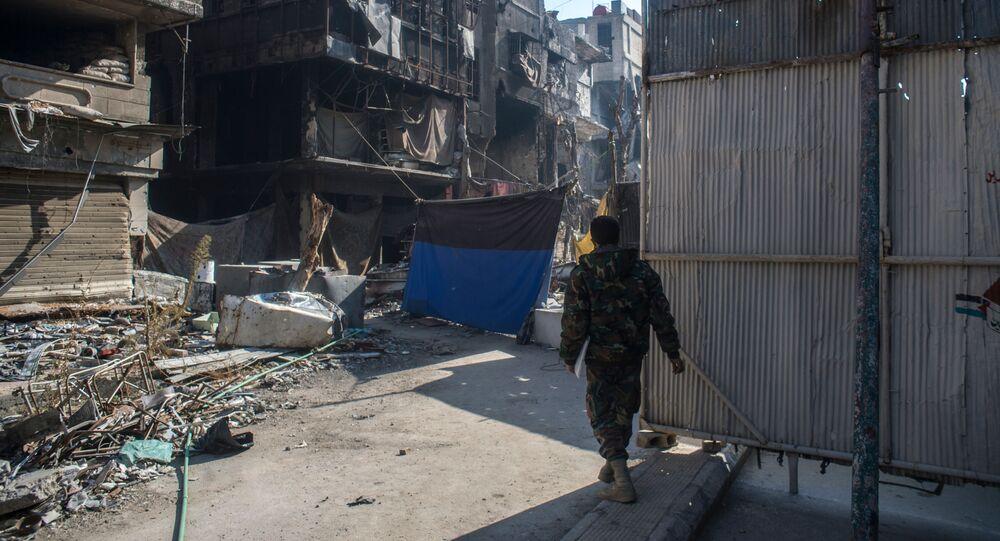 Şam'ın Yermuk mahallesi