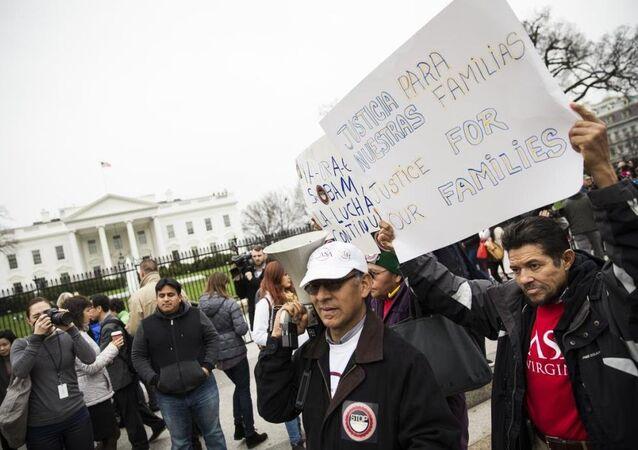 ABD göçmen protestosu