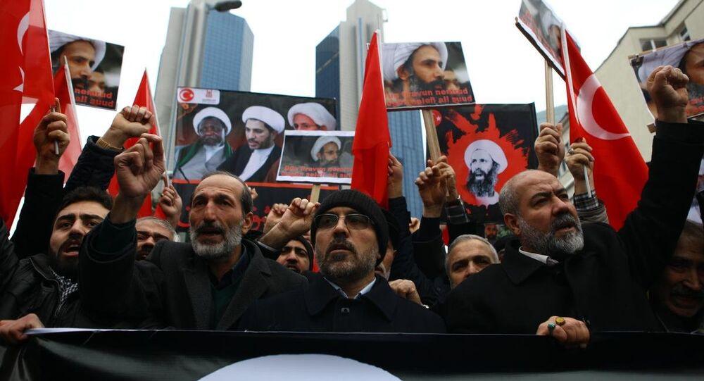 Suudi Arabistan konsolosluğu önünde idam protestosu