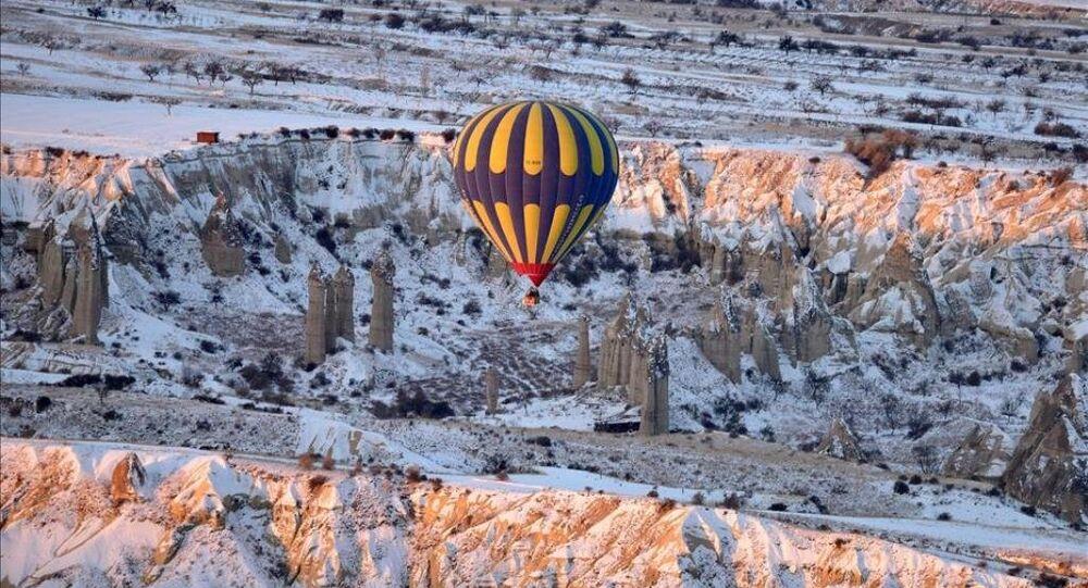 Kapadokya'da eksi 16 derecede balon keyfi