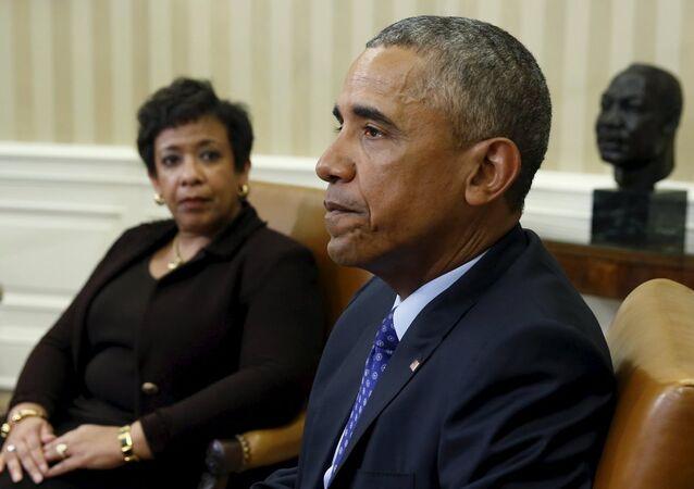ABD Adalet Bakanı Loretta lynch- ABD Başkanı Barack Obama