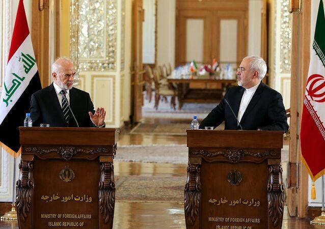 İran Dışişleri Bakanı Muhammed Cevad Zarif - Irak Dışişleri Bakanı İbrahim El Caferi